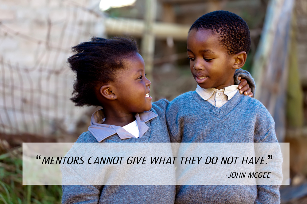 Mentors cannot give what they do not have