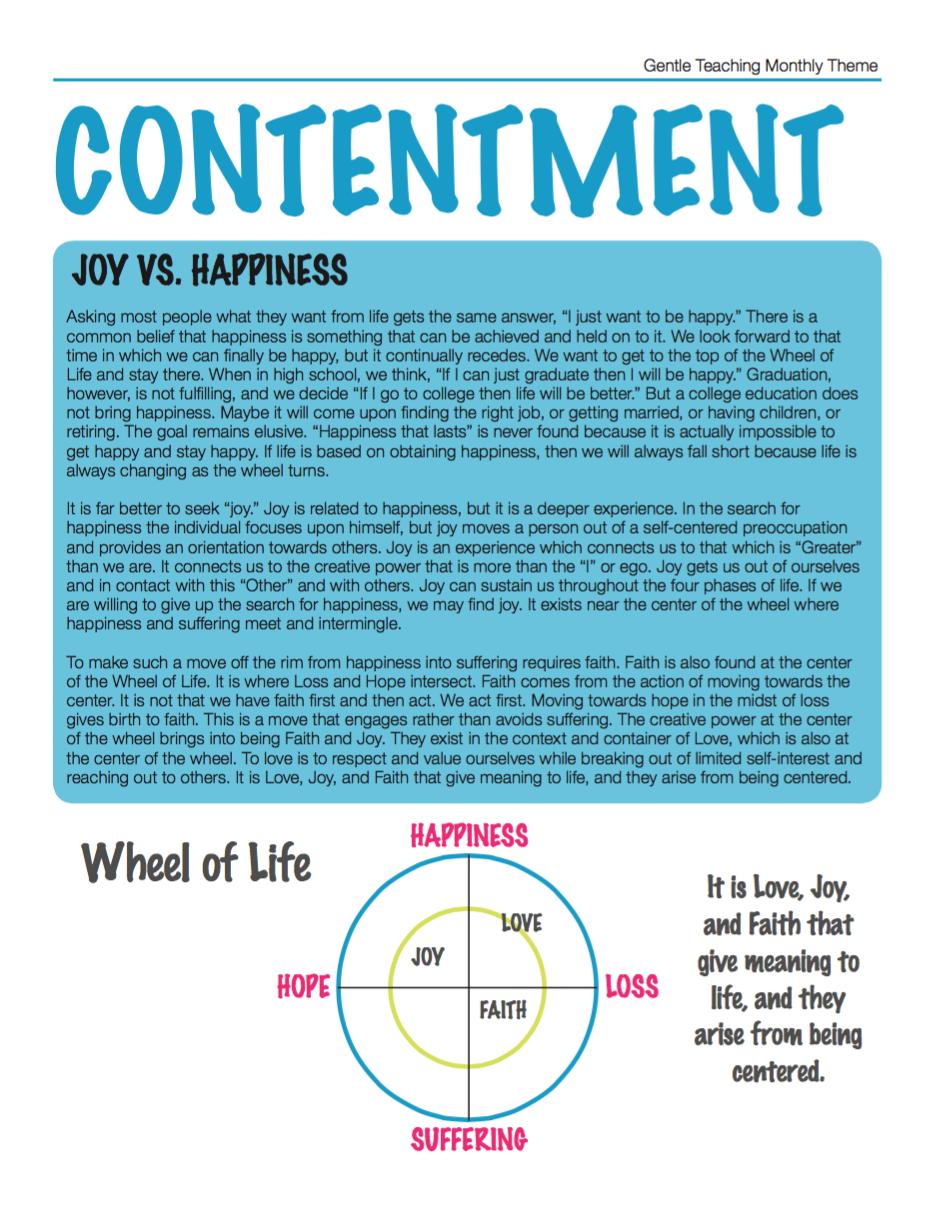 Contentment - 1